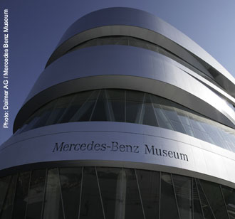 Mercedes Benz Museum, exposed concrete, high performance superplasticizer
